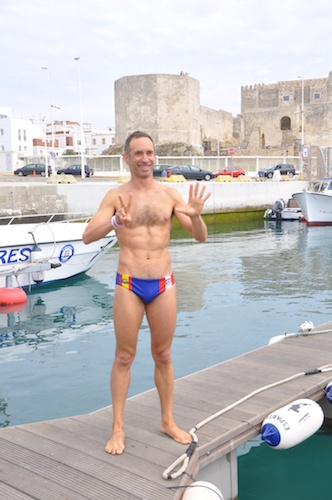 Chema López seventh time swim across the Straits of Gibraltar