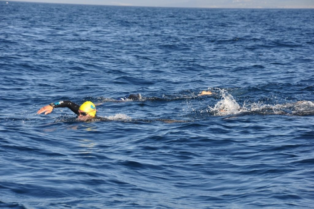 chema lopez swimming across straits of Gibraltar